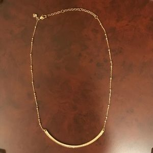 Rebecca Minkoff Gold Tone Beaded Bar Necklace
